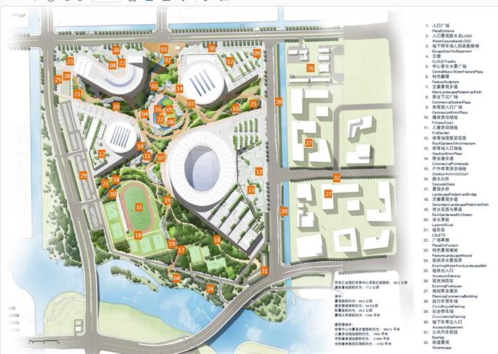 某工业园区体育中心建筑景观设计pdf方案高清文本