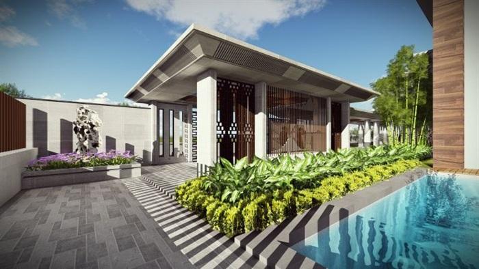新中式風格別墅設計方案su模型[原創]