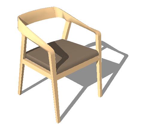 简约详细的室内空间椅子设计su模型[原创]