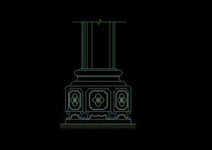 CAD室内柱子设计cad常用图块