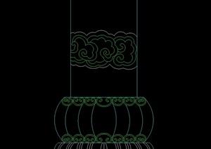 中式柱头的cad样式及详图