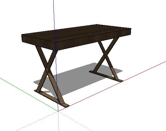 全木质详细桌子设计su模型[原创]