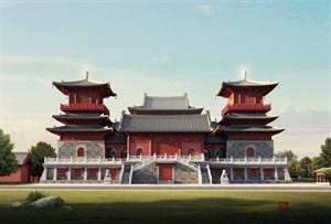 山东莘县燕塔寺建筑表现