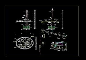 椭圆形钢结构顶棚cad方案