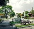 仿古街心公园景观设计表现