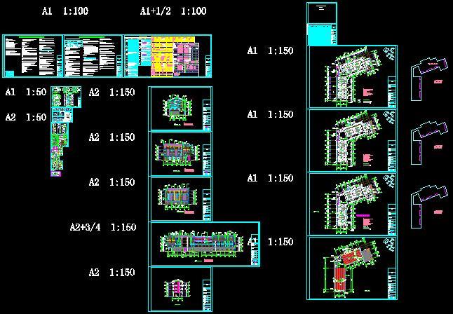 民族风格度假酒店项目建筑施工图-3163.29平(1)