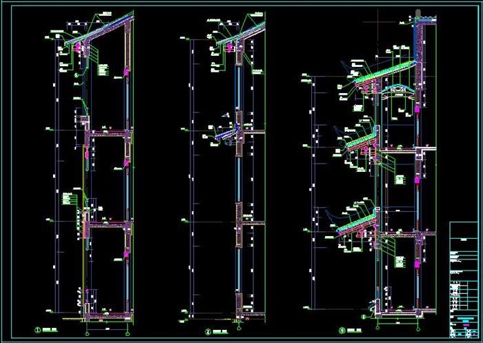 民族风格度假酒店项目建筑施工图-3163.29平(9)