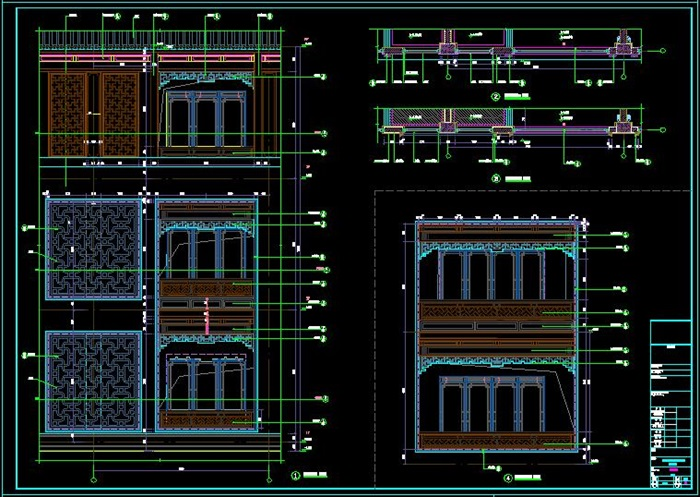 民族风格度假酒店项目建筑施工图-3163.29平(10)