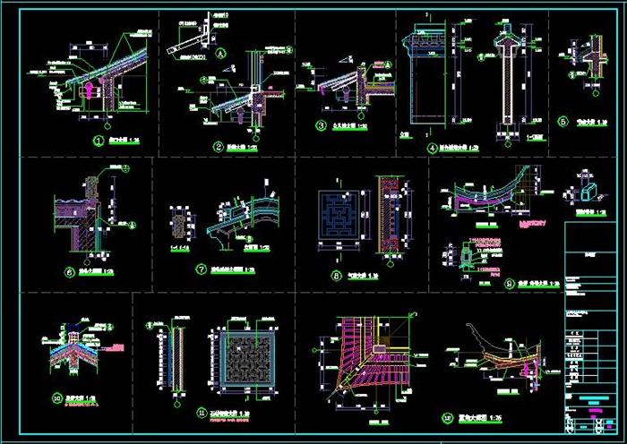 民族风格度假酒店项目建筑施工图-3163.29平(11)