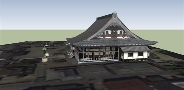 日本古建设计su模型