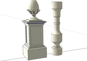 某欧式柱子、松子柱子设计SU(草图大师)模型