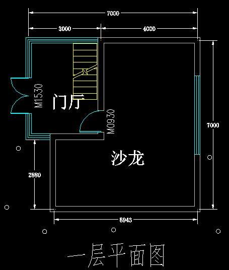 三层建筑师工作室建筑设计方案CAD图SU模型及PSD排版图