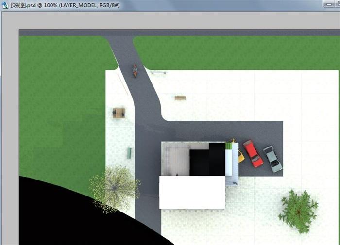 三层建筑师工作室建筑设计方案(含CAD图SU模型及PSD排版图)-约200平(8)