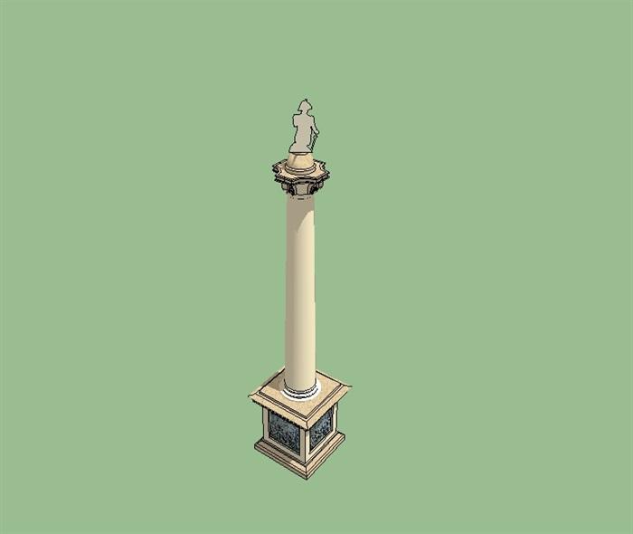 欧式景观柱子小品设计su模型[原创]
