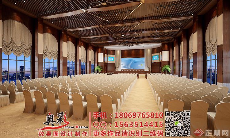 酒店宾馆大堂大厅会所效果图设计/工装办公楼3d效果图