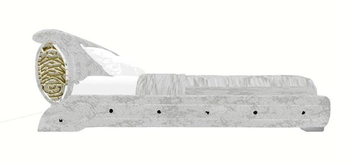 某室内卧室双人床设计su模型