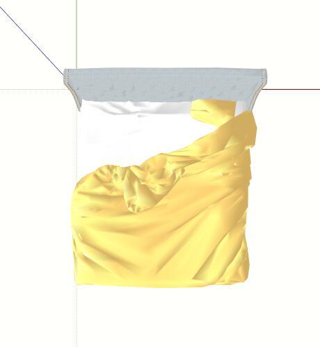 现代软包双人床设计su模型