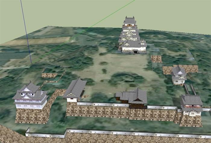 日本详细古建寺庙设计su模型(3)