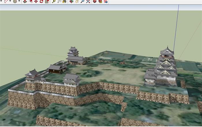 日本详细古建寺庙设计su模型(2)
