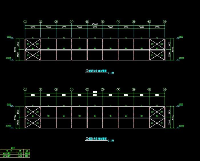 厂房双层12x45米钢结构CAD图[原创]家乐图纸酷在生出哪图片