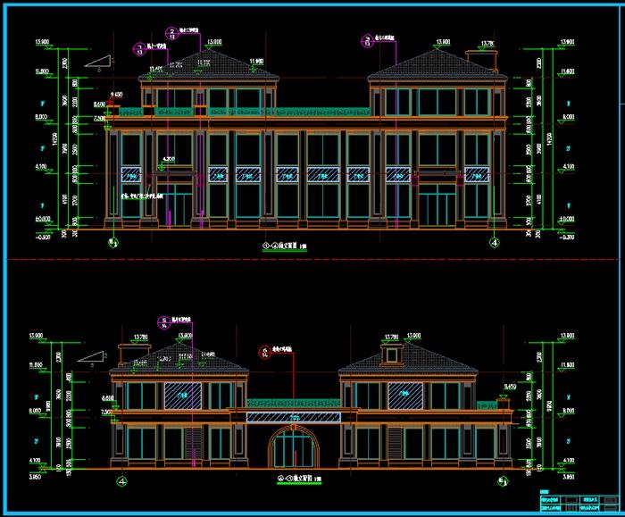 欧式风格沿江商业建筑cad施工图,图纸是一套完整的商业建筑施工图,高程错落有致,图纸完整清晰,非常好的参考和学习资料!