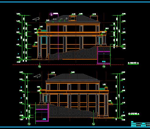 欧式风格沿江商业建筑cad施工图[原创]图片