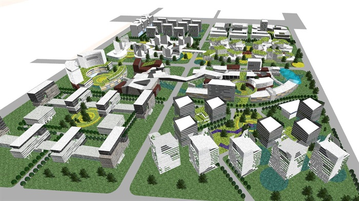 90个城市设计,城市综合体设计精品su模型集合[原创]