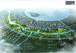 某滴水湖春花秋色地块城市景观设计pdf方案高清文本