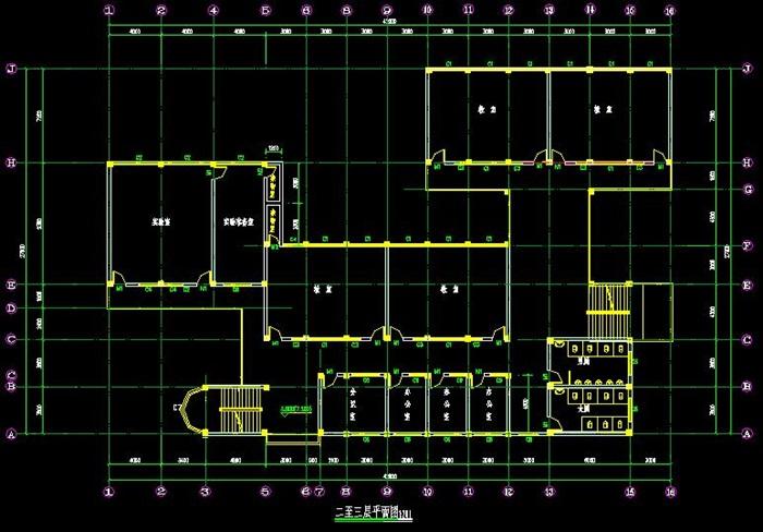 四层框架结构12班中学楼设计方案[原创]