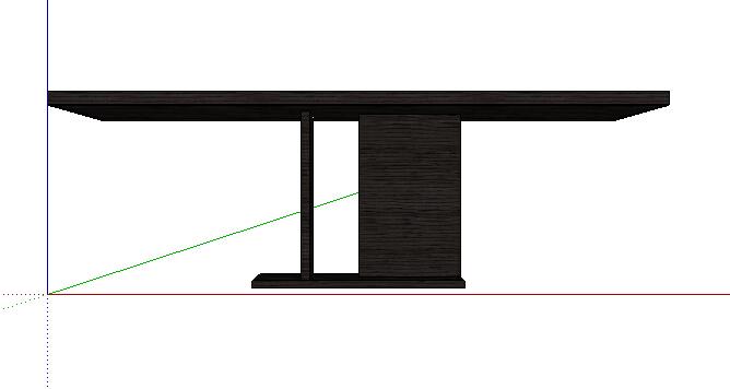 现代独特长条桌设计su模型[原创]