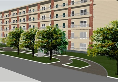 现代宿舍区建筑及景观方案SU模型