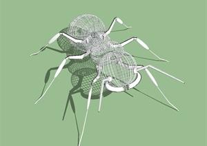 蚂蚁雕塑作品SU模型