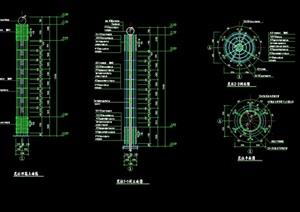 花柱详细设计cad施工方案
