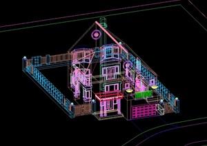 某独栋别墅设计cad模型