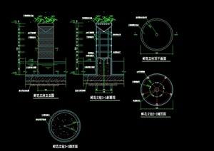 某花钵花柱设计cad施工方案