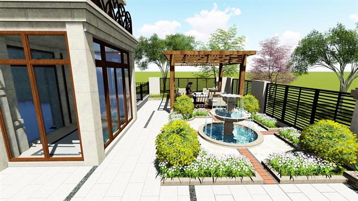 法式别墅庭院详细su模型及效果图,附件包含了效果图,模型有材质贴图,可直接下载用于相关设计使用,具有一定的使用价值,欢迎下载。