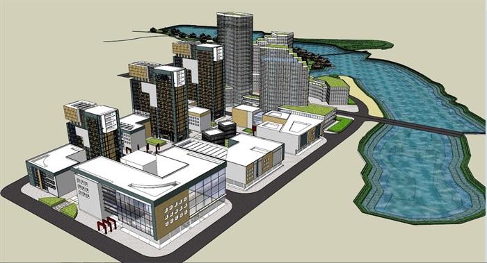 欧式滨湖小镇整体景观规划SU模型,模型为欧式风格,可直接下载用于相关小镇设计使用,具有一定的使用价值,欢迎下载。