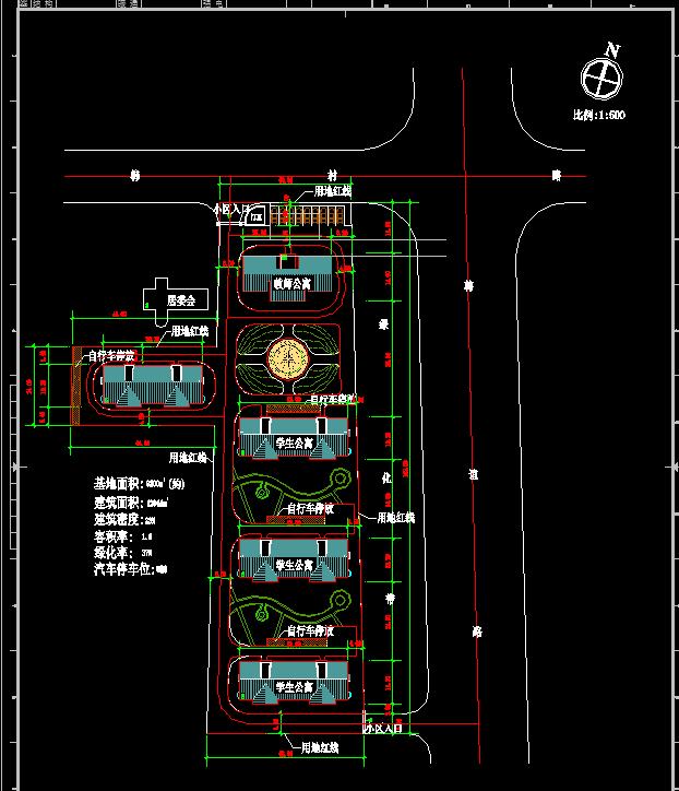公寓楼景观规划平面图[原创]