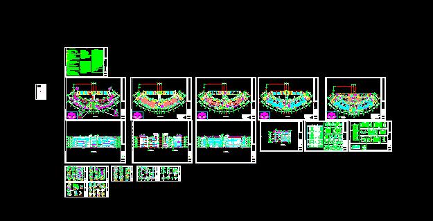 椭圆型现代风格图书馆建筑施工图[原创]