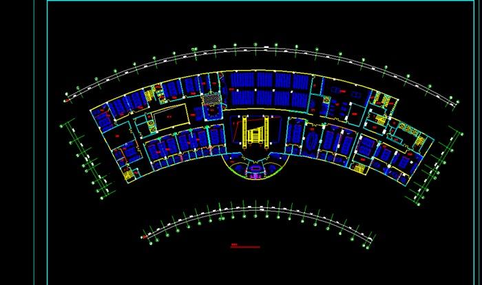 客运站建筑设计平面图[原创]