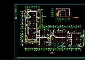 小区会所建筑平面图