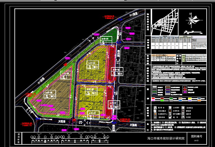 城市地块居住区规划设计平面图[原创]