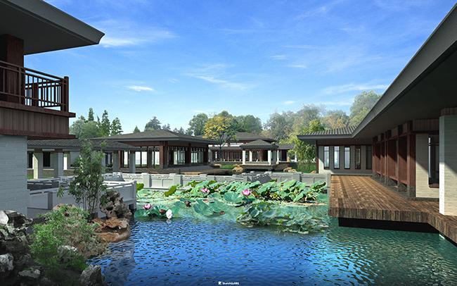 精细中式禅主题会所酒店民俗su模型设计(1)