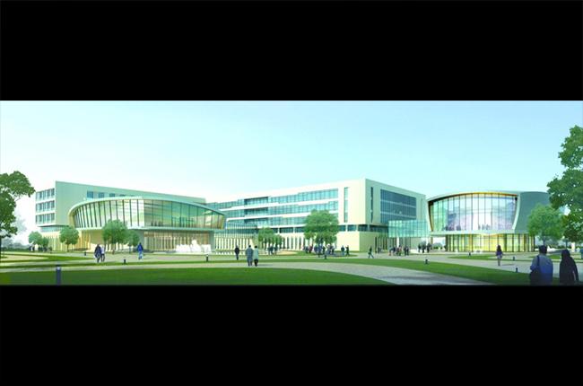 某银行总部多层后台中心行政办公楼宿舍建筑方案设计(2)