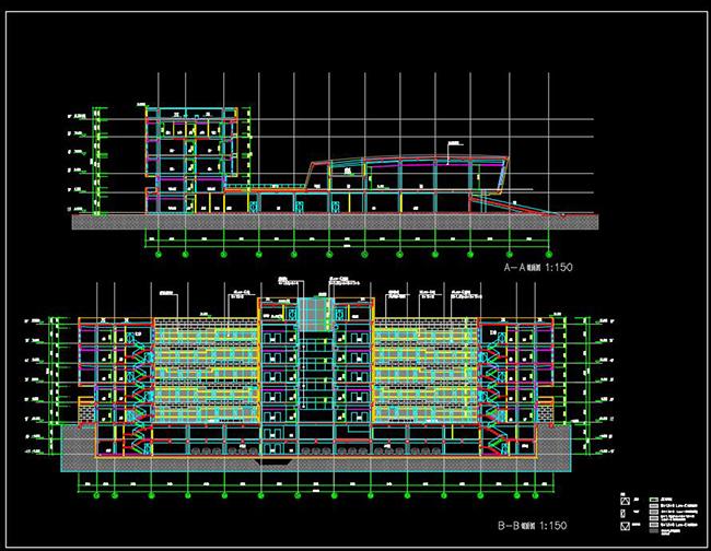 某银行总部多层后台中心行政办公楼宿舍建筑方案设计(7)