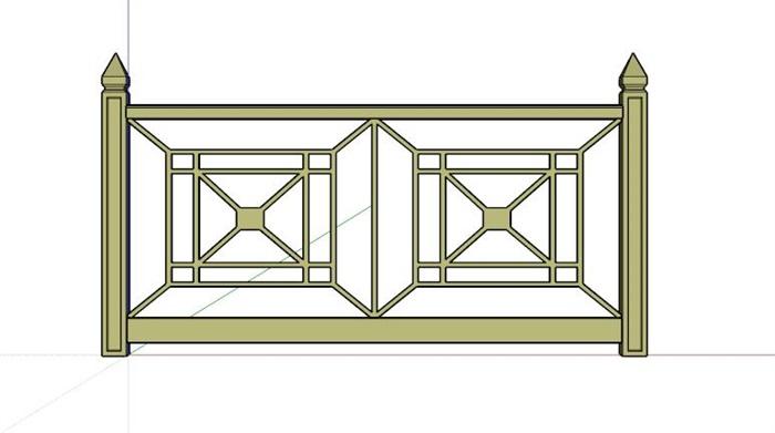 马路栏杆矢量图