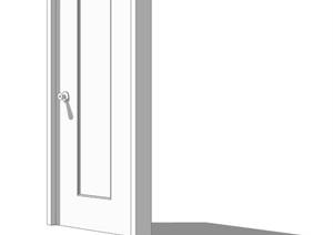 某卧室门设计SU(草图大师)模型