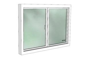 某现代详细的玻璃窗子SU(草图大师)模型