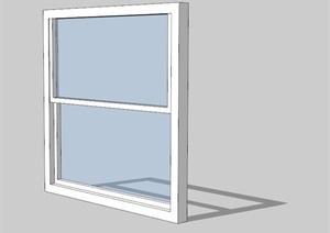 现代玻璃窗详细完整SU(草图大师)模型