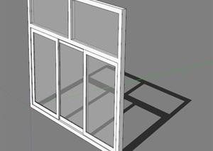 现代室内详细的窗子设计SU(草图大师)模型